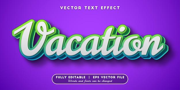 Vakantieteksteffect, bewerkbare tekststijl