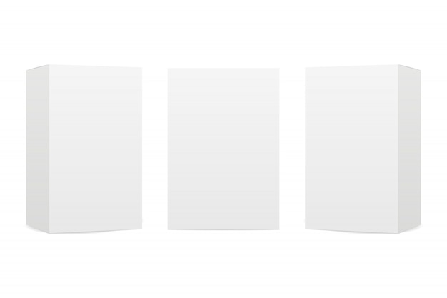 Vakken op een witte achtergrond