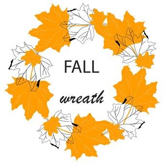 Val vector krans afbeelding ontwerp. natuur thanksgiving concept. herfst viering banner. vakantie achtergrond. natuurlijke elementen.