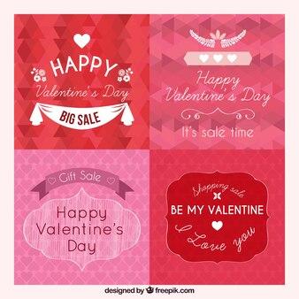 Valentijn badges en aanbiedingen