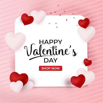 Valentijn banner verkoop