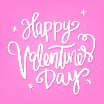 Valentijn belettering met confetti en sterren