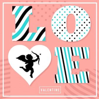 Valentijn dag vector illustratie achtergrond