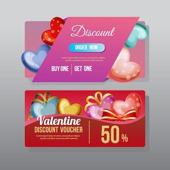 Valentijn kortingsbon liefde