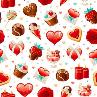 Valentijn liefde patroon.