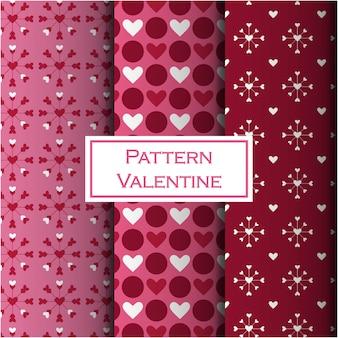 Valentijn naadloze patroon set