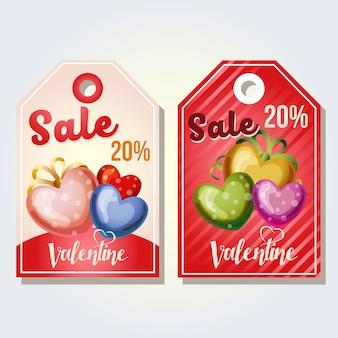 Valentijn tag gekleurde liefde