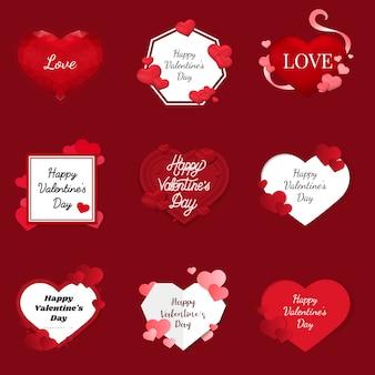 Valentijnsdag 14 februari vector