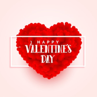 Valentijnsdag 3d hart ontwerp van de banner