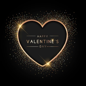 Valentijnsdag achtergrond gouden stijl