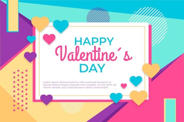 Valentijnsdag achtergrond in platte ontwerpstijl