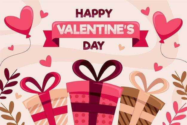Valentijnsdag achtergrond met cadeautjes