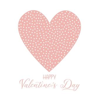 Valentijnsdag achtergrond met gevlekte hart