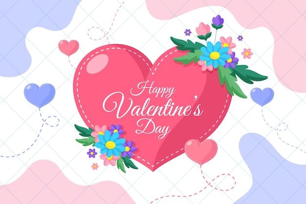 Valentijnsdag achtergrond met groet