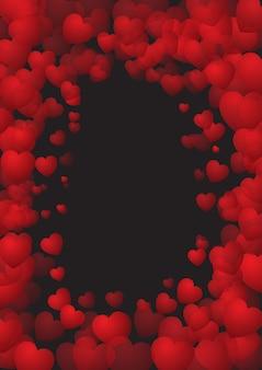 Valentijnsdag achtergrond met hart frame