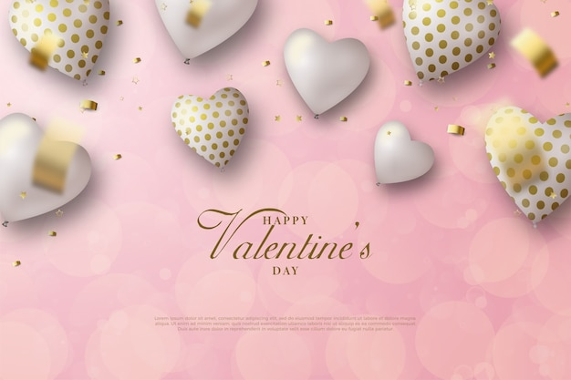 Valentijnsdag achtergrond met liefde ballon op roze achtergrond