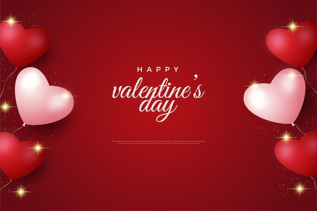 Valentijnsdag achtergrond met liefde ballon