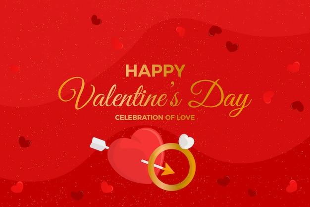 Valentijnsdag achtergrond met trouwring