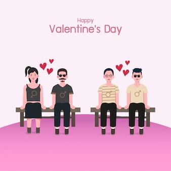 Valentijnsdag achtergrond