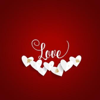 Valentijnsdag achtergrondontwerp. vector illustratie