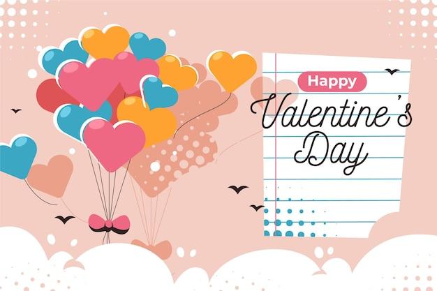 Valentijnsdag achtergrondthema