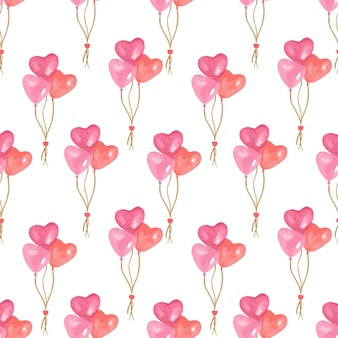 Valentijnsdag aquarel patroon