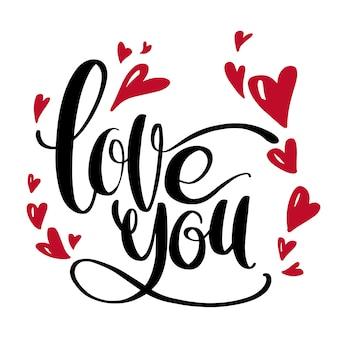 Valentijnsdag artistieke hand getrokken kaart