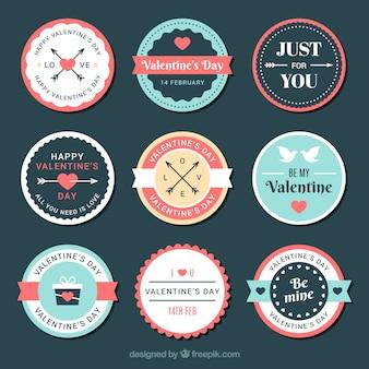 Valentijnsdag badge collectie
