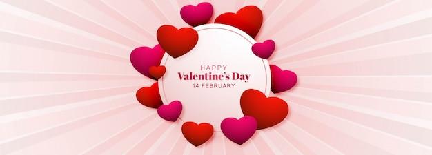 Valentijnsdag banner met harten