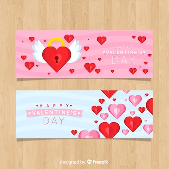 Valentijnsdag banner vergrendelen
