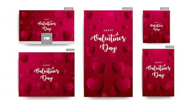 Valentijnsdag banners.