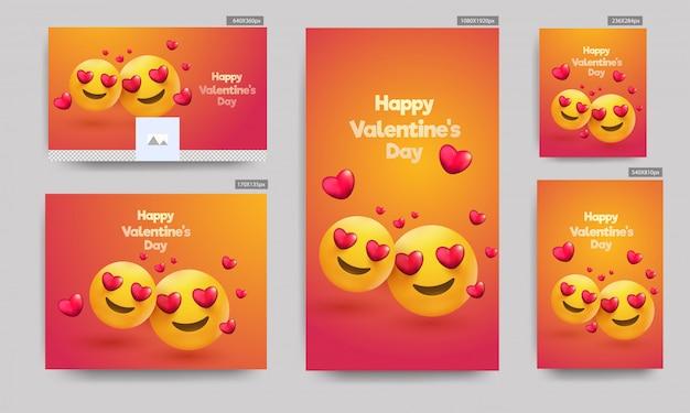 Valentijnsdag banners,