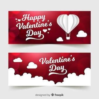 Valentijnsdag banners