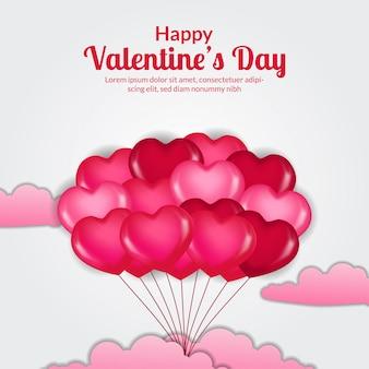 Valentijnsdag bannersjabloon