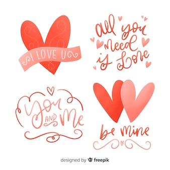 Valentijnsdag belettering citaat collectie