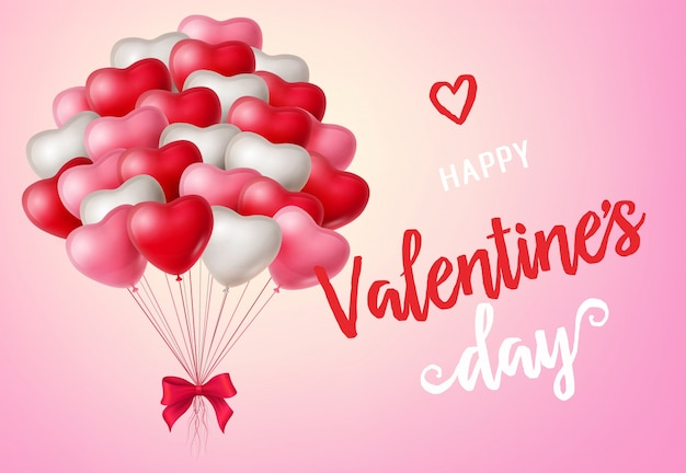 Valentijnsdag belettering met ballonnen