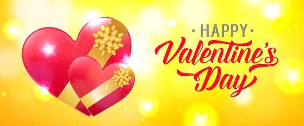 Valentijnsdag belettering met harten