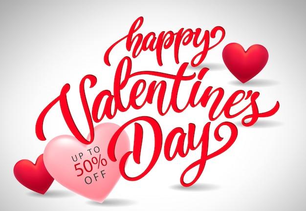Valentijnsdag belettering voor verkoop banner