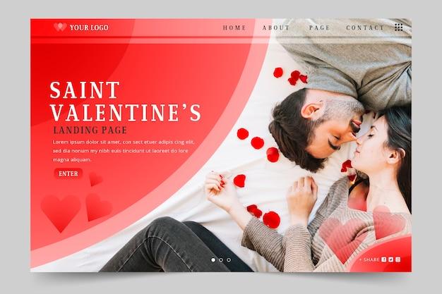 Valentijnsdag bestemmingspagina sjabloon