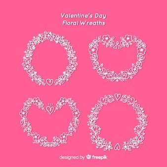 Valentijnsdag bloemenkransen