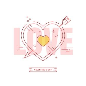 Valentijnsdag briefkaart