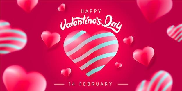 Valentijnsdag concept achtergrond. Premium Vector