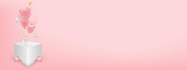 Valentijnsdag concept met hartjes op met kopie.