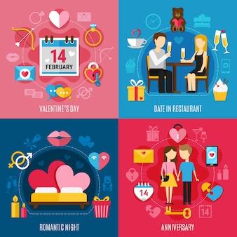 Valentijnsdag concept