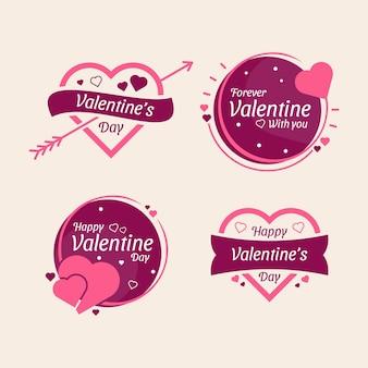 Valentijnsdag creatief romantisch badgelabel.