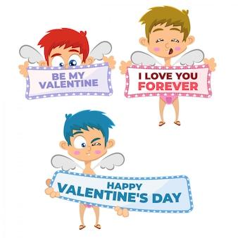 Valentijnsdag cupido-collectie