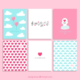 Valentijnsdag cute cards collection