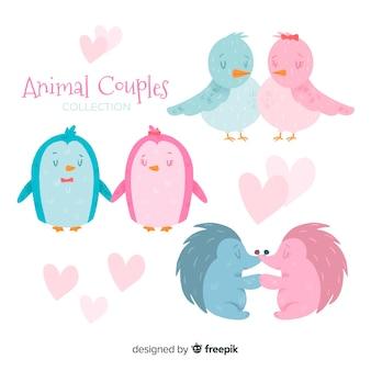 Valentijnsdag dier paren collectie