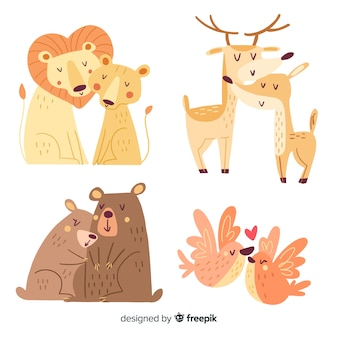 Valentijnsdag dierlijk paar collectie