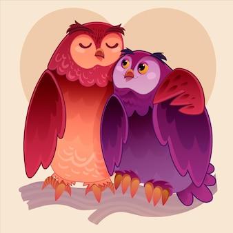 Valentijnsdag dierlijk paar